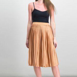 💸💸Maison Jules Pleated A-Line Midi Skirt Copper
